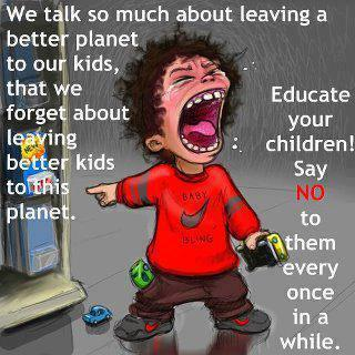 cartoon Leave better kids for our future planet