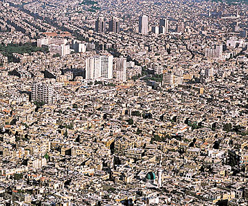 Syria Damascus overpopulated city