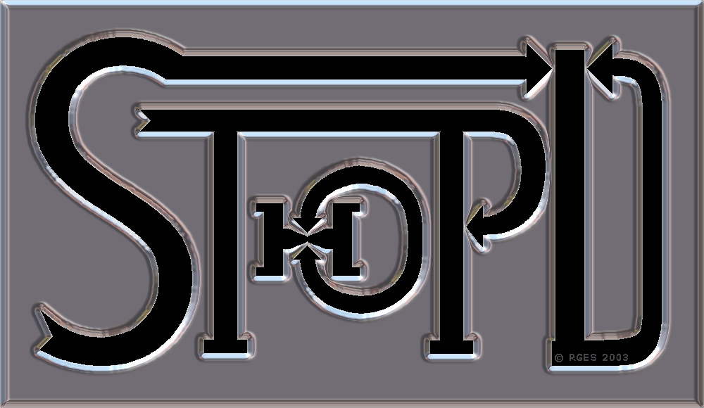 Stop Terrible Human OverPopulation Disasters Logo Chrome © RGES