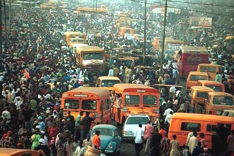 nigeria overpopulated traffic