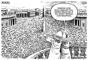 cartoon pope overpopulation